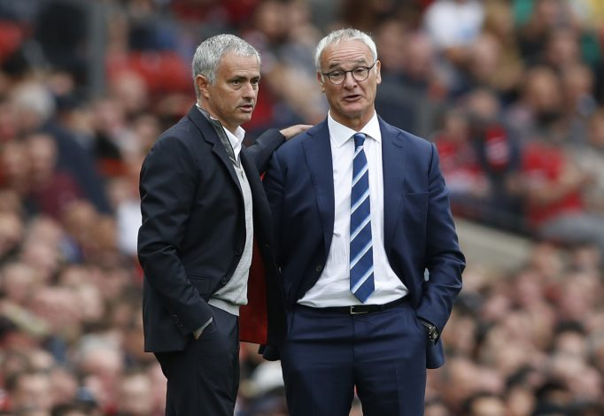 Manchester United manager Jose Mourinho and Leicester City manager Claudio Ranieri.