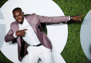 Jamaican sprinter and GQ Man of the Year Usain Bolt poses at the GQ Men of the Year Party in West Hollywood, California, December 8, 2016.
