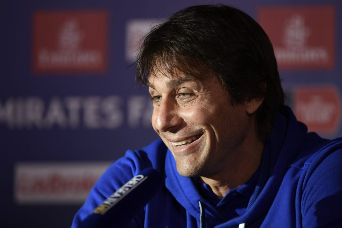 Chelsea manager Antonio Conte during the press conference.