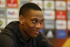 Anthony Martial during the press conference.