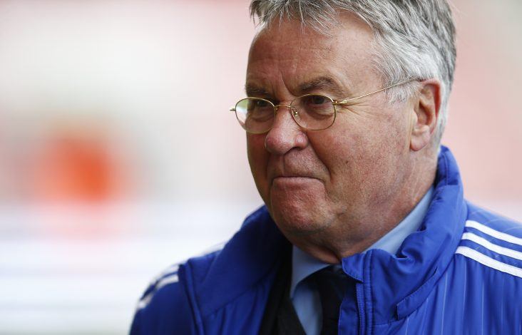 Chelsea manager Guus Hiddink before the game.