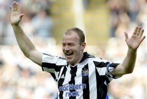 Newcastle United's Alan Shearer celebrates his goal.