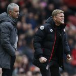 Manchester United manager Jose Mourinho and Bournemouth manager Eddie Howe.
