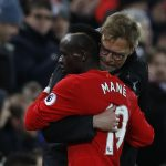 Sadio Mane with Liverpool manager Klopp after the match.