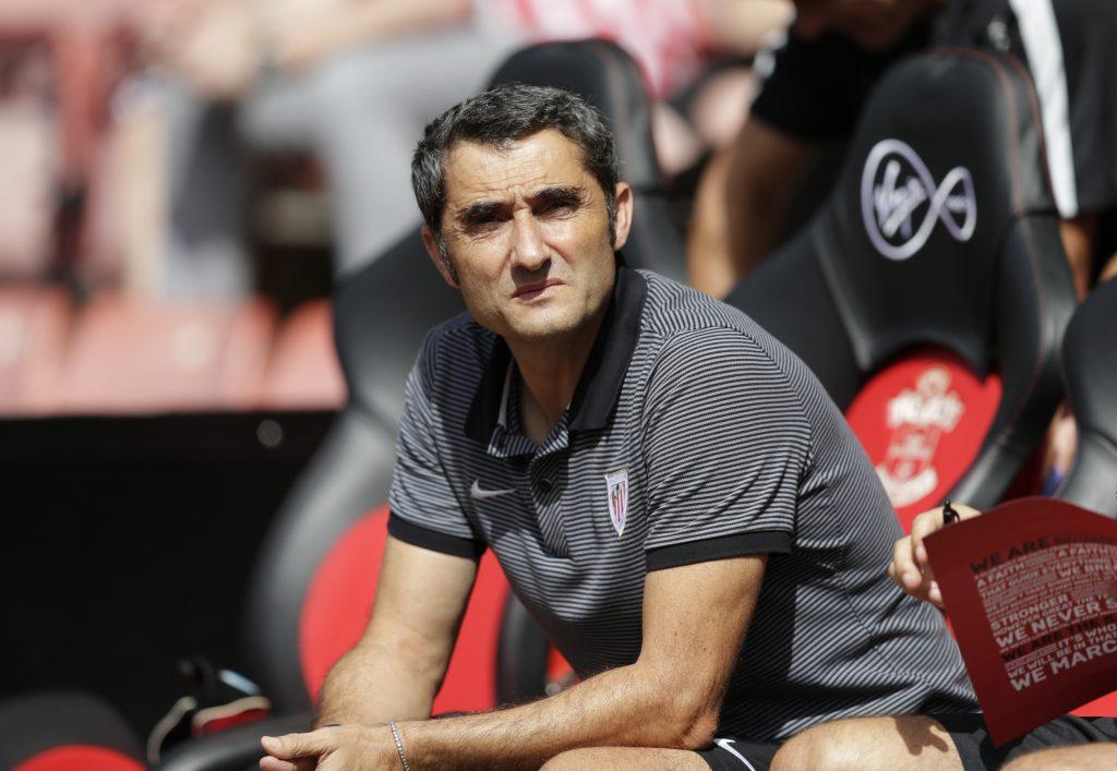 Athletic Bilbao coach Ernesto Valverde.