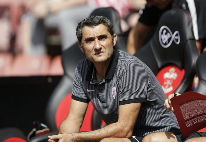 Athletic Bilbao coach Ernesto Valverde.