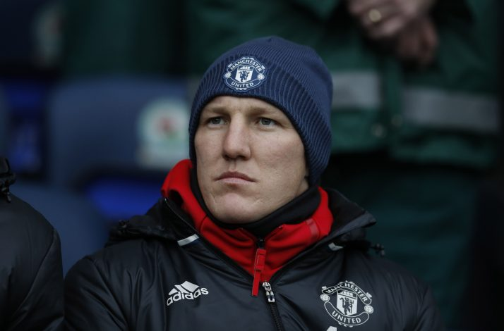 Manchester United's Bastian Schweinsteiger before the match.
