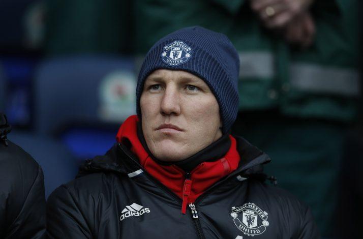 Manchester United's Bastian Schweinsteiger before the match.