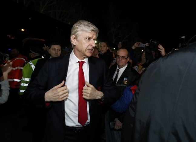 Arsene Wenger arrives for the match.