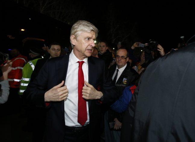 Arsene Wenger arrives for the match.
