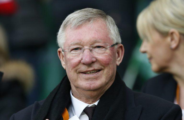 Sir Alex Ferguson in the stands.