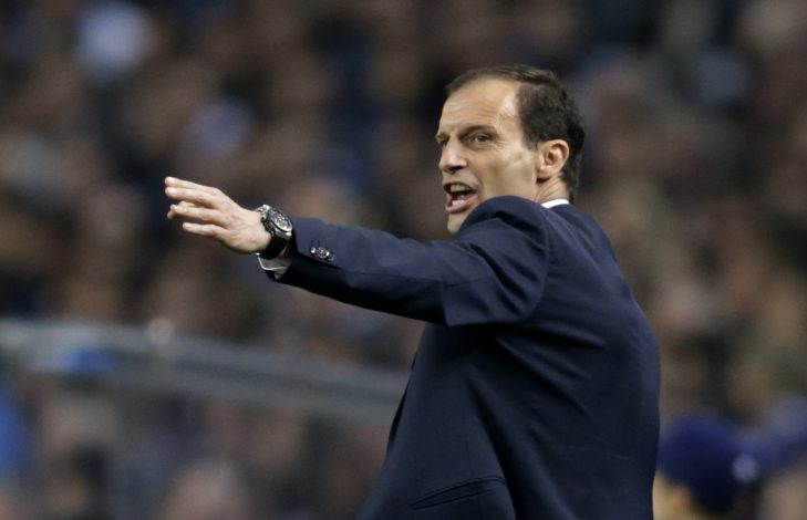 Juventus Coach Massimiliano Allegri.
