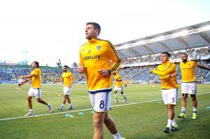 Los Angeles Galaxy midfielder Steven Gerrard.