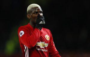 Paul Pogba looks dejected.