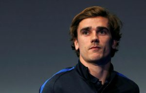 France's Antoine Griezmann during a news conference.
