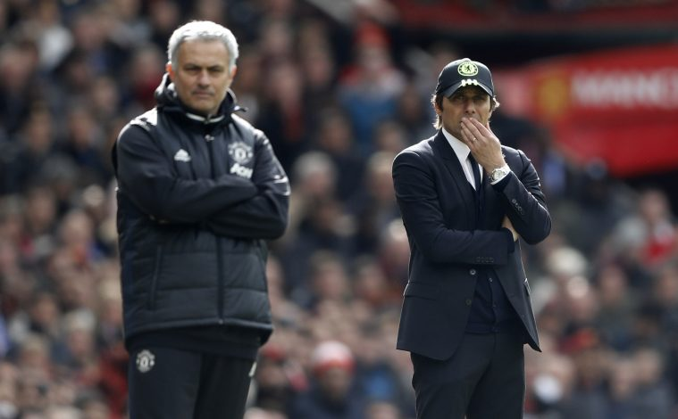 Chelsea manager Antonio Conte and Manchester United manager Jose Mourinho.