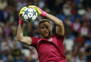 Atletico Madrid's Jan Oblak before the match.