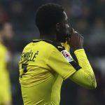 Borussia Dortmund's Ousmane Dembele reacts.