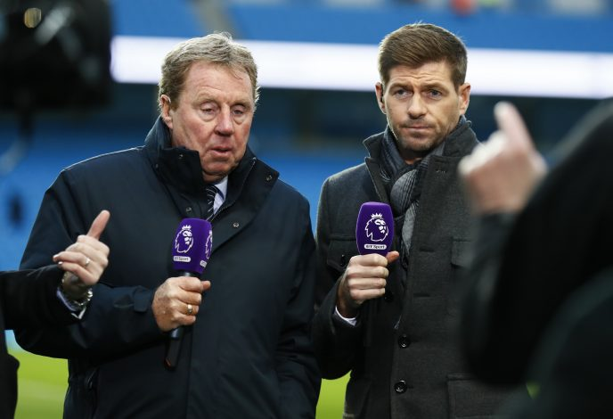 Harry Redknapp and Steven Gerrard before the game.