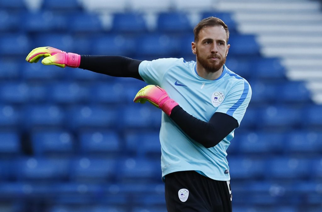 Slovenia's Jan Oblak during training.