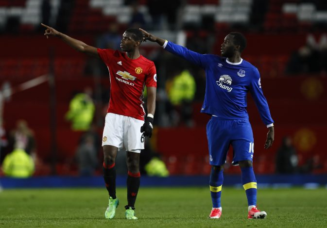Paul Pogba and Romelu Lukaku after the game.