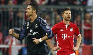 Real Madrid's Cristiano Ronaldo celebrates.