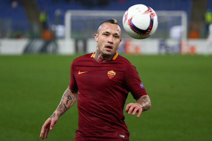 Roma's Radja Nainggolan in action.