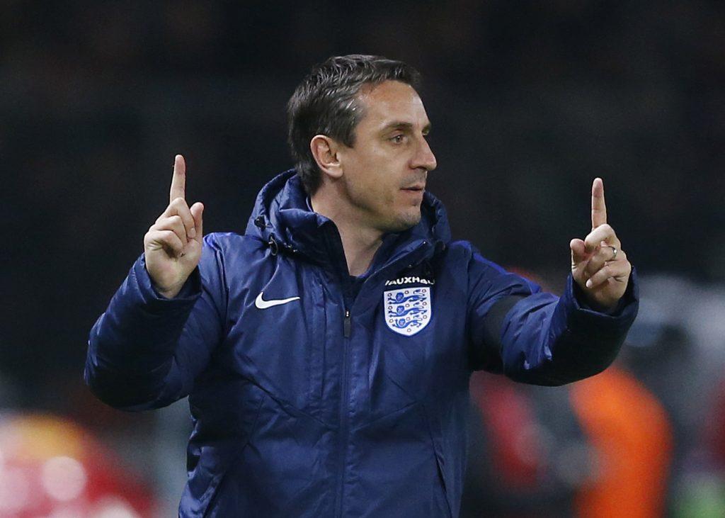 England coach Gary Neville.