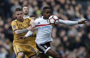 Fulham's Ryan Sessegnon in action with Tottenham's Kieran Trippier.