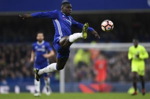 Chelsea's Kurt Zouma in action.