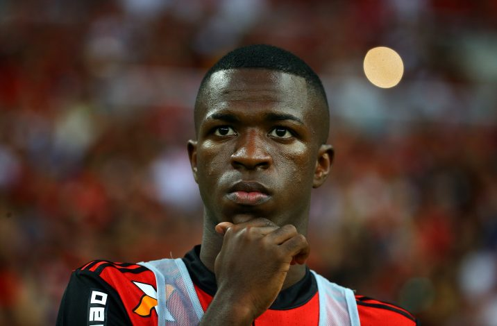 Vinicius Junior of Flamengo attends the match.