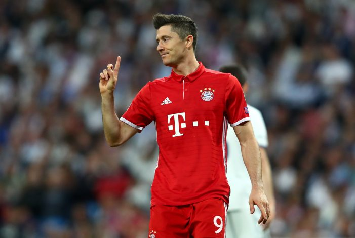 Bayern Munich's Robert Lewandowski.