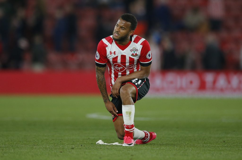 Southampton's Ryan Bertrand looks dejected after the match.