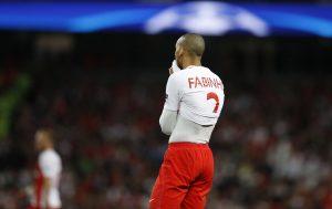 Monaco's Fabinho looks dejected.