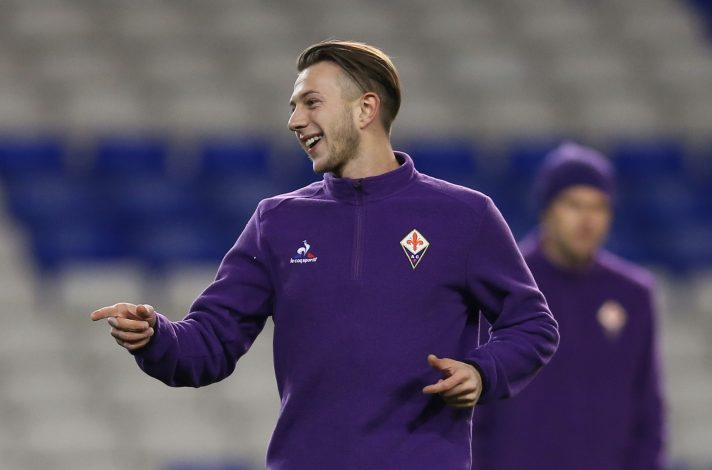 Fiorentina's Federico Bernardeschi during training.