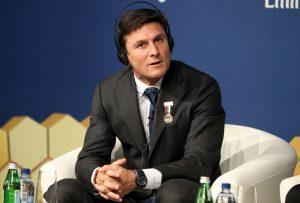 Inter Milan Vice President Javier Zanetti takes part in the 11th Dubai International Sports Conference in Dubai.