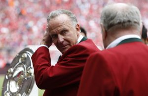 Bayern Munich CEO Karl-Heinz Rummenigge before the match.