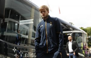Tottenham's Eric Dier arrives before the match.