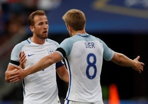 England's Harry Kane and Eric Dier.