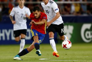 Spain's Dani Ceballos in action.