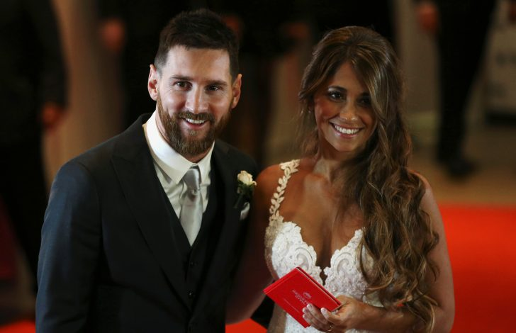 Lionel Messi and his wife Antonela Roccuzzo.