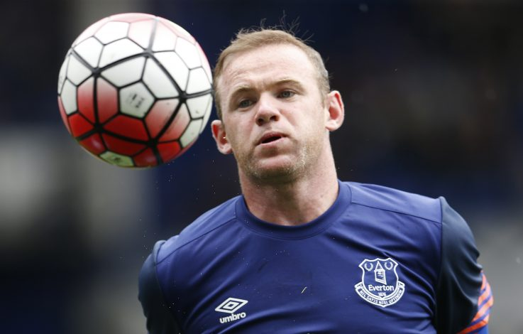 Everton's Wayne Rooney before the game.