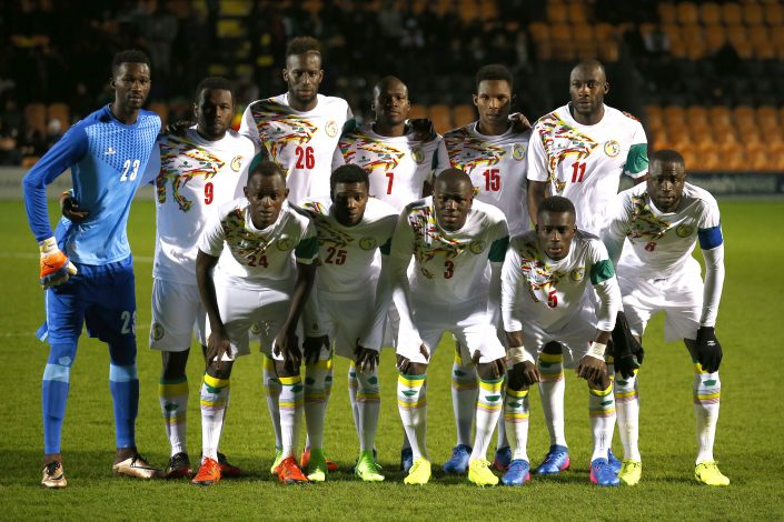 Senegal team group before the match.