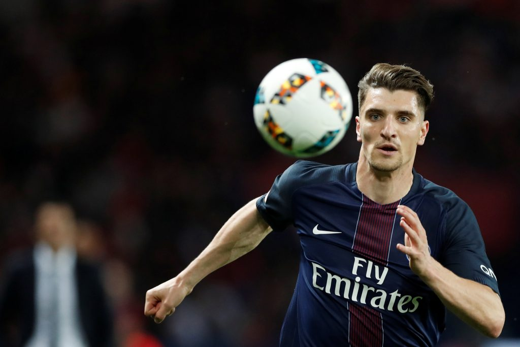 PSG's Thomas Meunier in action.