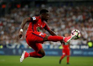 Paris Saint-Germain's Serge Aurier in action.
