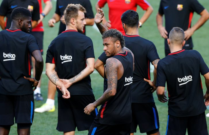 Neymar trains ahead of International Champions Cup.
