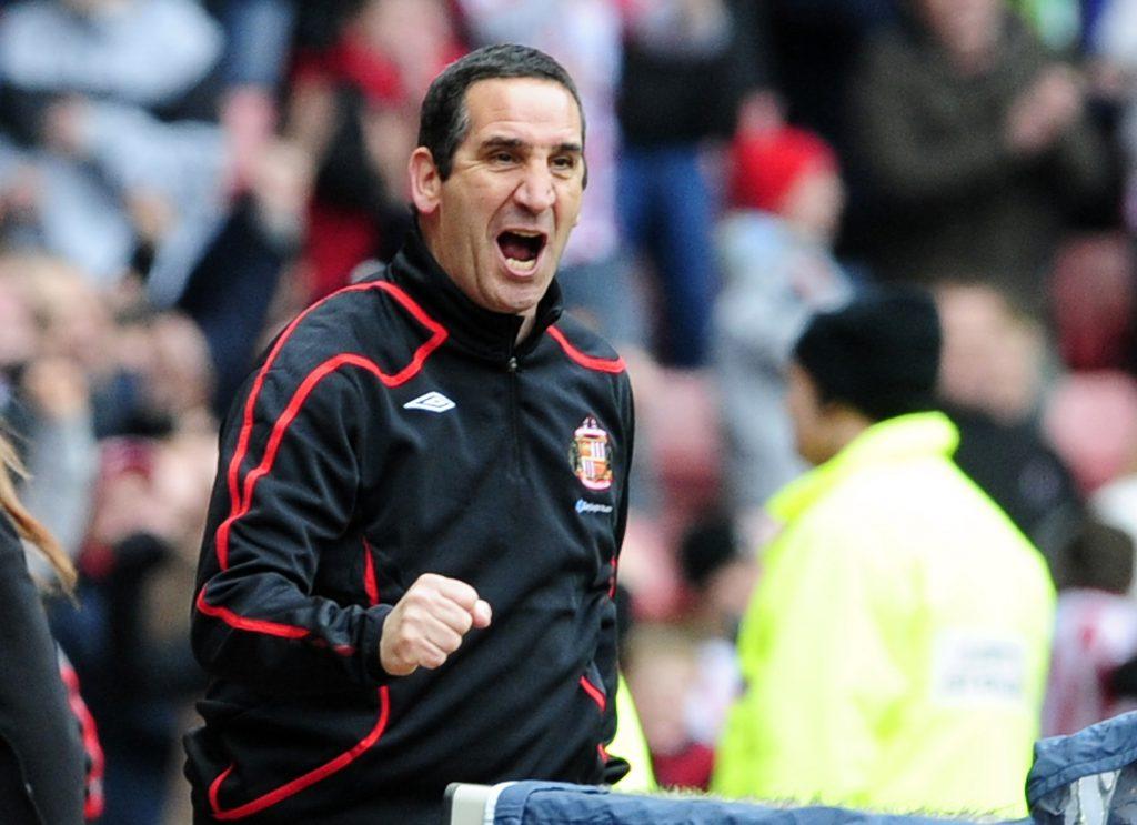 Sunderland's coach Ricky Sbragia reacts.
