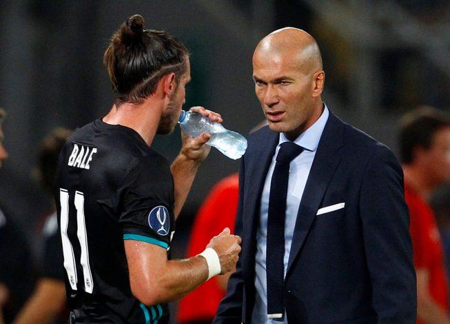 Zinedine Zidane with Gareth Bale.