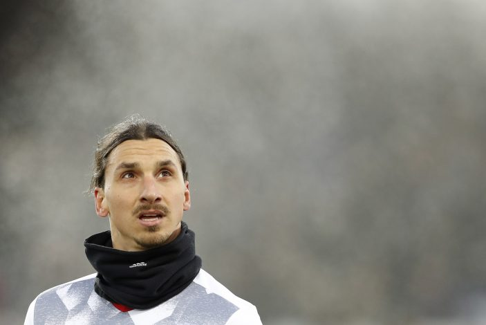 Zlatan Ibrahimovic before the match.