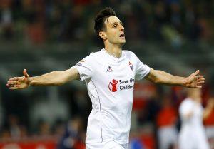 Fiorentina's Nikola Kalinic celebrates.